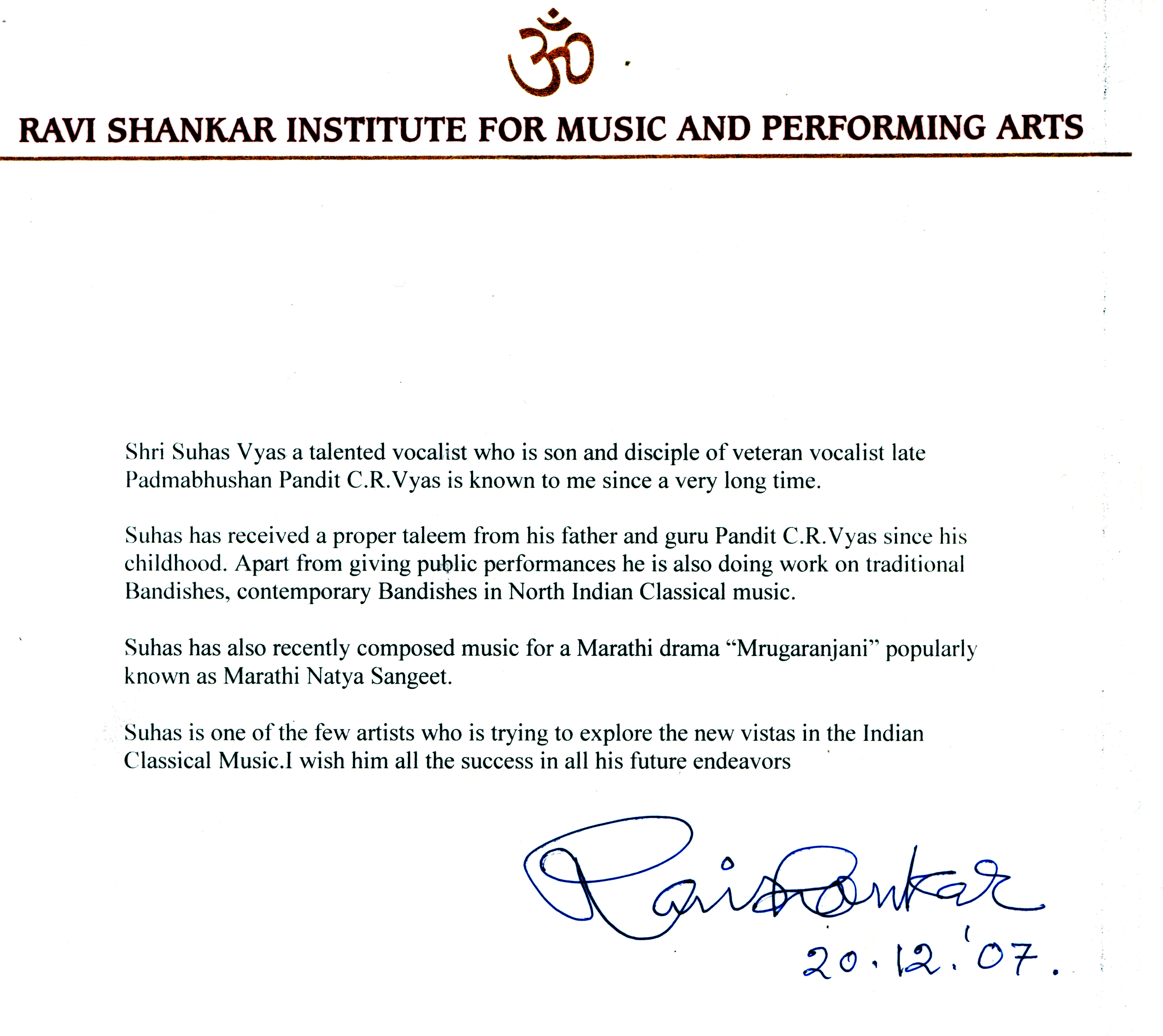essay on ravi shankar vyas
